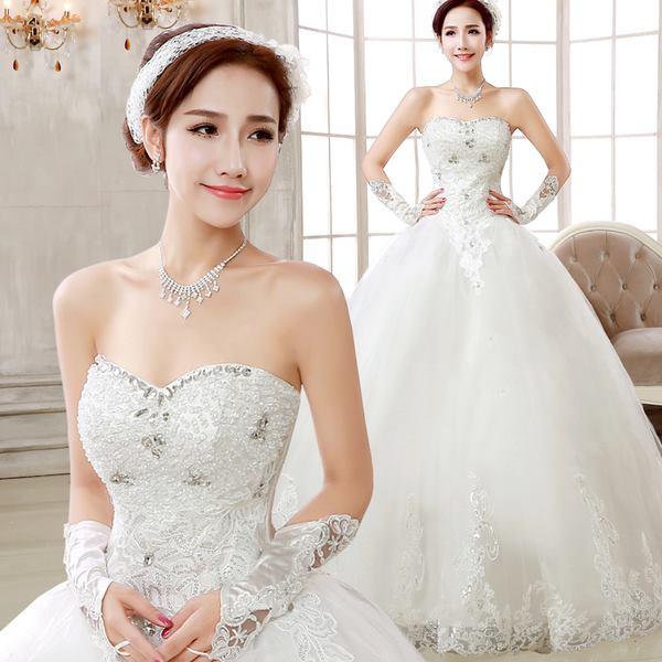 ชุดเจ้าสาวชุดแต่งงานแฟชั่น