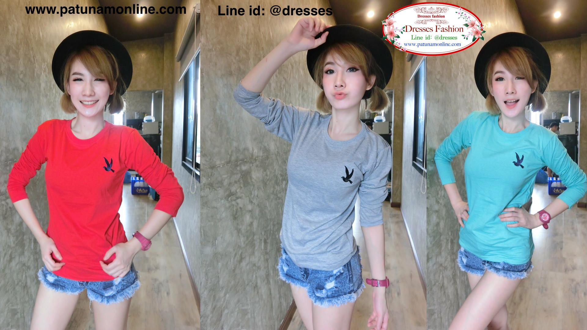 เสื้อยืดแฟชั่นผู้หญิง เสื้อยืดแฟชั่นเกาหลี.009